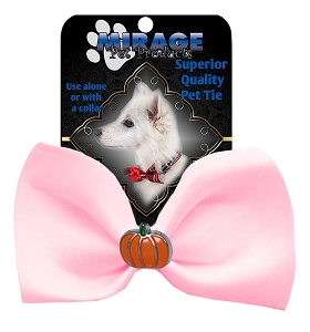 Pumpkin Widget Pet Bowtie Light Pink